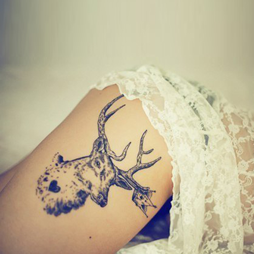 c813edb5052d0 Deer Tattoo Meanings | iTattooDesigns.com