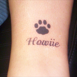 footprint tattoo meanings itattoodesigns com rh itattoodesigns com dog paw tattoo ideas dog footprint tattoo