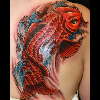 Koi fish tattoo meanings for Black koi fish meaning