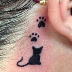 Paw Print Tattoo Meanings   iTattooDesigns com