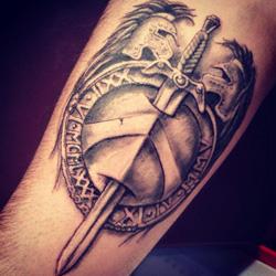 shield tattoo meanings itattoodesigns com rh itattoodesigns com Shield and Sword Tattoo Drawings Warrior Shield Tattoo