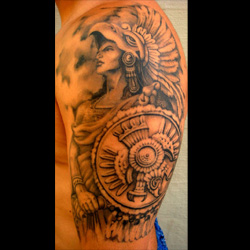 Warrior tattoo meanings for Mexican heritage tattoos