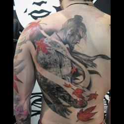Japanese Flag Tattoo Designs Best Traditional - Best traditional samurai tattoo designs meaning men women