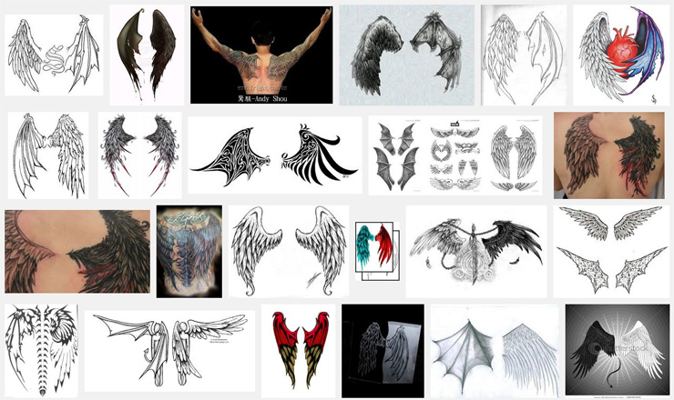 wings tattoo meanings. Black Bedroom Furniture Sets. Home Design Ideas