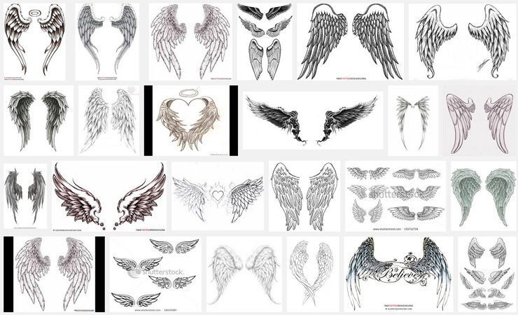 Wings tattoo meanings itattoodesigns angel wings with halo tattoo urmus Gallery