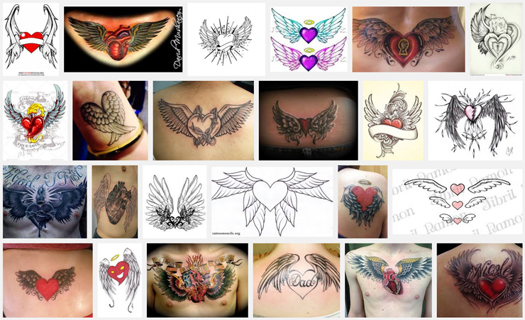 b4e30dd8a Wings Tattoo Meanings | iTattooDesigns.com