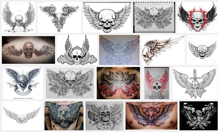 54+ Best Stomach Tattoos  |Skull Tummy Tattoo Wings