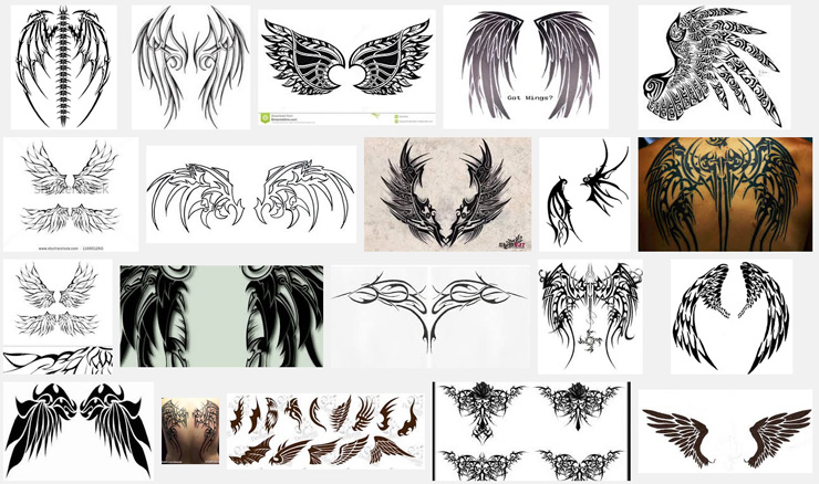 7e1272fa51c4f Wings Tattoo Meanings | iTattooDesigns.com