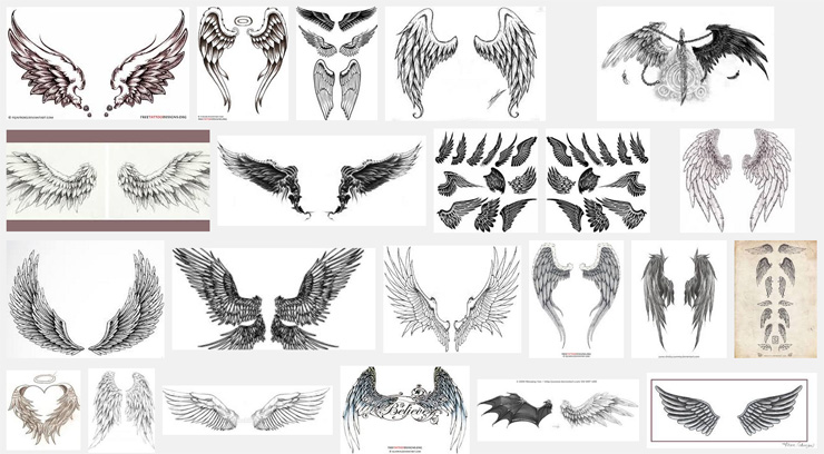 Wings tattoo meanings itattoodesigns variations of wings tattoos urmus Gallery
