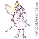 cute pink fairy tattoo