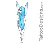 blue hair fairy