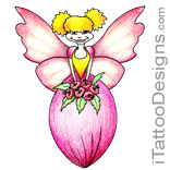 cute flower fairy tattoo