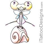 cute little fairy on shell