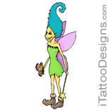 fairy with long hair and boots