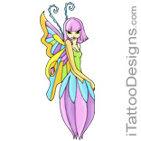 colorful fairy flower