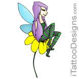 fairy sitting on flower
