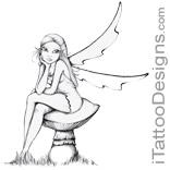 fairy sitting on mushroom