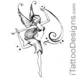 pretty fairy dancing