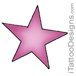 pink star tattoo