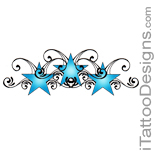 3 blue stars