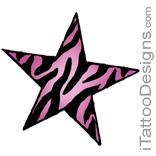 pink zebra star