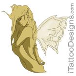 beautiful gold fairy
