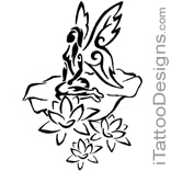 tribal fairy sitting with flowers
