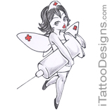 fairy nurse with syringe