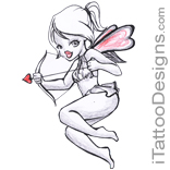 fairy with love bow