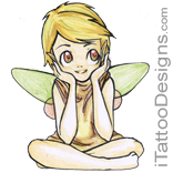 tiny fairy sitting
