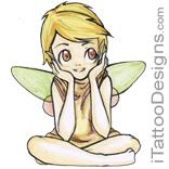 tiny fairy sitting