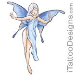 blue fairy dancing