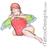 fairy holding strawberry