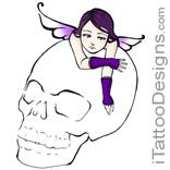 skull and fairy