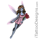 fairy holding flowers