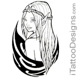 tribal fairy tattoo design