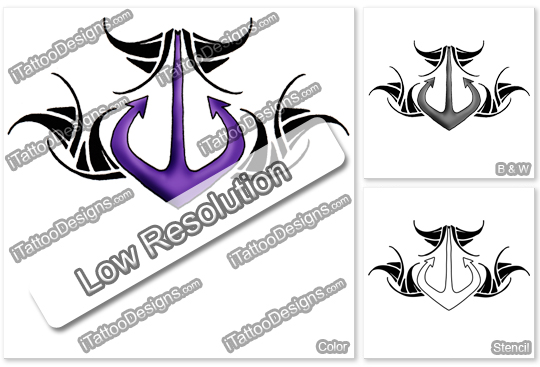 purple anchor