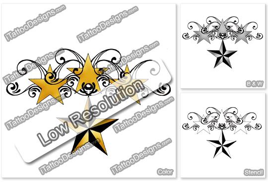 4 stars tattoo