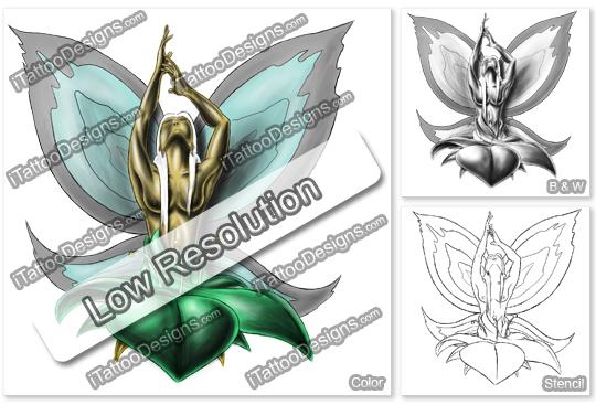 fantasy fairy inside flower