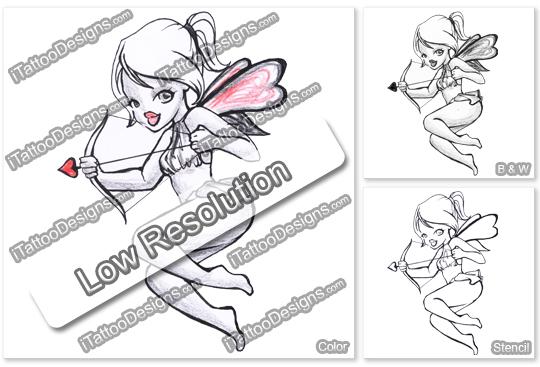 fairy with love bow