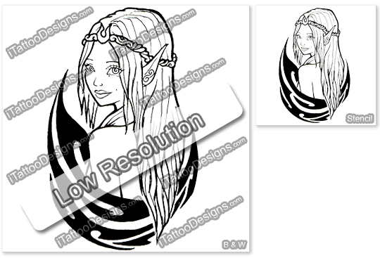 tribal fairy tattoo design