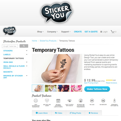 Top 10 Websites for Temporary & Custom Tattoos | iTattooDesigns.com